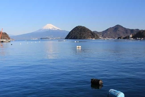 Awa island and mount fuji from uchiura bay 1528089704